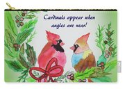 Cardinals Painted By Laurel Adams Carry-all Pouch