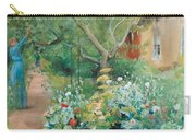 Carl Larsson, Garden Scene From Marstrand On The West Coast Of Sweden. Carry-all Pouch