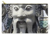 Carved Monk Statue Carry-all Pouch