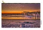Castles In The Sand 2 Tybee Island Pier Sunrise Carry-all Pouch