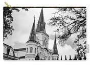 Cathedral Basilica - Square Bw Carry-all Pouch