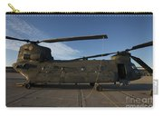 Ch-47 Chinook Helicopter On The Tarmac Carry-all Pouch