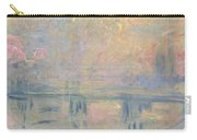 Charing Cross Bridge Carry-all Pouch by Claude Monet