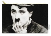 Charlie Chaplin, Vintage Actor And Comedian Carry-all Pouch