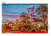 Charlotte City Skyline Early Morning At Sunrise Carry-all Pouch