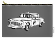 Checkered Taxi Cab Illustrastion Carry-all Pouch