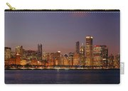 Chicago Skyline At Dusk Panorama Carry-all Pouch