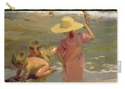 Children On The Seashore Carry-all Pouch by Joaquin Sorolla y Bastida