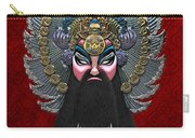 Chinese Masks - Large Masks Series - The Emperor Carry-all Pouch by Serge Averbukh