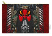 Chinese Masks - Large Masks Series - The Red Face Carry-all Pouch by Serge Averbukh