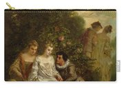 Chivalric Scene In A Park Carry-all Pouch