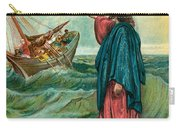 Christ Walking On The Sea Carry-all Pouch