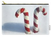 Christmas Candy Canes On Real Snow Carry-all Pouch