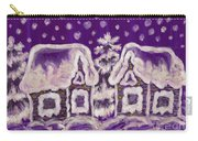 Christmas Picture On Crimson Background Carry-all Pouch