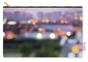 City Lights Bokeh Night Abstract Carry-all Pouch