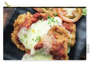 Classic  Italian Chicken Parmigiana With Cheese And Tomato Sauce Carry-all Pouch