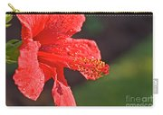 Close Up Of A Red Hibiscus Carry-all Pouch
