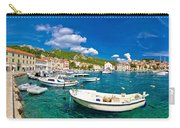 Coastal Town Of Hvar Waterfront Panorama Carry-all Pouch
