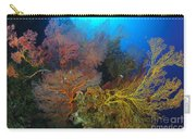 Colorful Assorted Sea Fans And Soft Carry-all Pouch