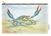 Colorful Blue Crab Carry-all Pouch