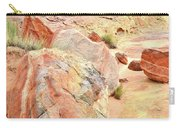 Colorful Boulders In Wash 3 In Valley Of Fire Carry-all Pouch