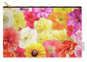 Colorful Floral Background Carry-all Pouch