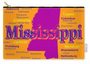 Colorful Mississippi State Pride Map Silhouette  Carry-all Pouch