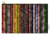 Colorful Vertical Stripes Background In Vintage Retro Style Carry-all Pouch
