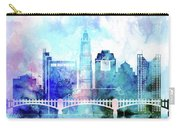 Columbus  Watercolor Skyline Carry-all Pouch