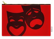 Comedy N Tragedy Red Carry-all Pouch