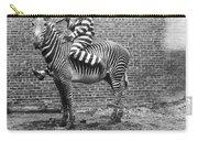 Comic Criminal Riding A Zebra Carry-all Pouch
