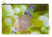 Commensal Shrimp On Green Anemone Carry-all Pouch by Steve Jones