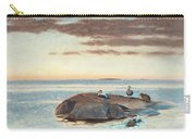Common Eiders On A Rock Carry-all Pouch