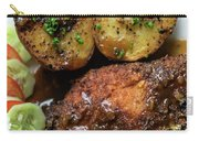 Cordon Bleu Breaded Fried Chicken Gravy And Potatoes Meal Carry-all Pouch