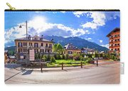 Cortina D' Ampezzo Street And Alps Peaks Panoramic View Carry-all Pouch