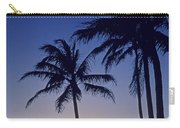 Couple And Sunset Palms Carry-all Pouch