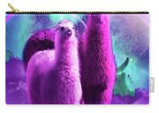 Crazy Funny Rainbow Llama In Space Carry-all Pouch