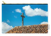 Cross And Tiled Roof Carry-all Pouch