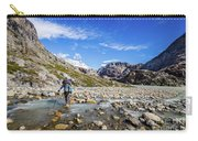 Crossing A River In Patagonia Carry-all Pouch