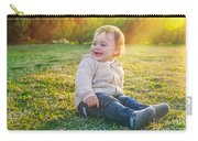 Cute Baby Boy Outdoors Carry-all Pouch