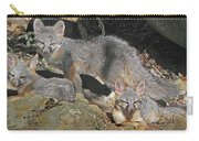 D-a0072 Fox Family On Our Mountain Carry-all Pouch