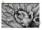 Dahlia In Black And White Close Up Carry-all Pouch
