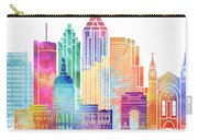 Atlanta Landmarks Watercolor Poster Carry-all Pouch