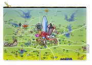 Dallas Texas Cartoon Map Carry-all Pouch