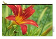 Daylily On Green Carry-all Pouch