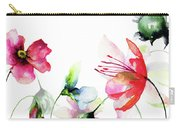 Decorative Wild Flowers Carry-all Pouch