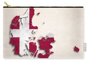 Denmark Map Art With Flag Design Carry-all Pouch