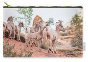 Desert Bighorn Family In Southern Utah Carry-all Pouch