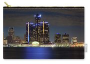 Detroit Skyline Panorama Carry-all Pouch