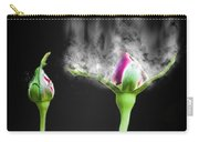 Digitally Manipulated Red Rose Bud Carry-all Pouch